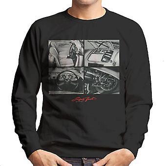 MG Safety Fast Montage British Motor Heritage Men's Sweatshirt