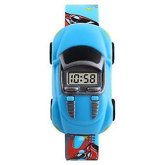 Impermeabil luminos LED Digital Touch Ceas pentru copii - Albastru deschis
