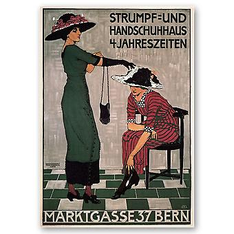 Vintage Reclame Poster Marktgasse 37 Bern - Canvas Print, Wall Art Decor