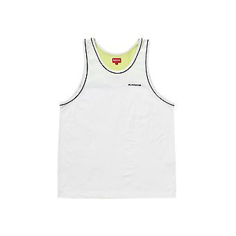 Supreme Piping Tank Top White - Clothing