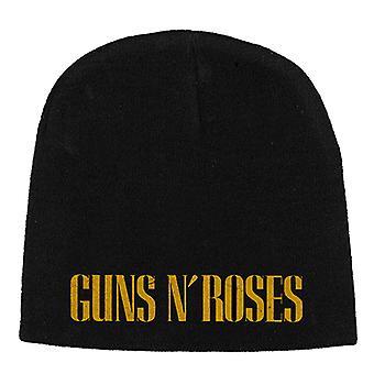 Guns N Roses Beanie Hat Cap Classic Band Logo Official New Black Jersey