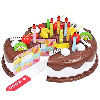 Protend Play Fruit Cuting Birthday, Kitchen Toys Cake Food For Educational/