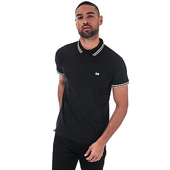 Men's Weekend Offender Liberty Tipped Polo Shirt in Black