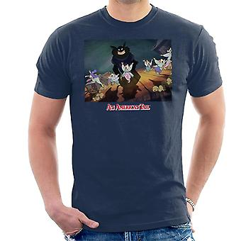 An American Tail Cossack Cats Looming Men's T-Shirt