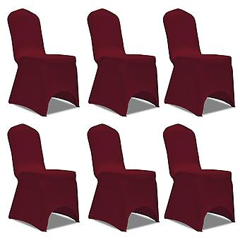 6 x Chair Husse Stretchhusse burgundy red