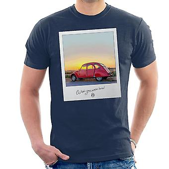 Citro�n 2CV Wish You Were Here Photo Men's T-Shirt