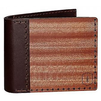 BeWooden Red Virilia Wallet - Rusty Brown
