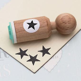 Mini Star Rubber Stamp | Ink Scrapbook Wedding Teacher Crafts
