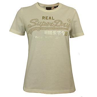 Superdry women's kerma vintage etiketti kiilto t-paita