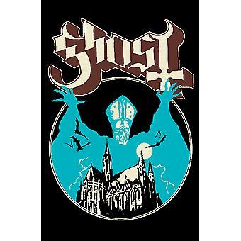 Ghost Poster Opus Eponymous band Logo nya officiella Textil Flagga 70cm x 106cm