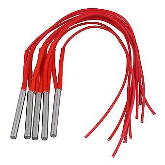 5 x yksipäinen patruuna muottilämmitin elementti kaksijohtoinen punainen 220V 120W 6x50mm