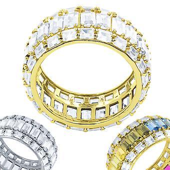 الجنيه الاسترليني 925 الفضة مايكرو يمهد خاتم - PRISMATIC