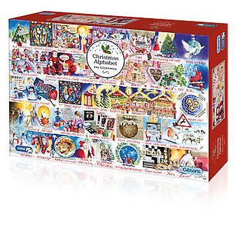 Gibsons Puzzel Christmas Alphabet 1000 stuks