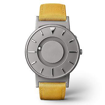 Eone Bradley Canvas Mustard & Grey Titanium Watch