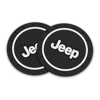 1/2x Car Water Cup Bottle Holder Anti-slip Pad Mat Silica Gel For Jeep Compass