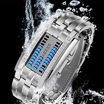 Fashion Couple Watch Luxury Clock, Led Date Bracelet Binary Wristwatch