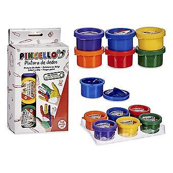Sæt Malede fingre 6 farver