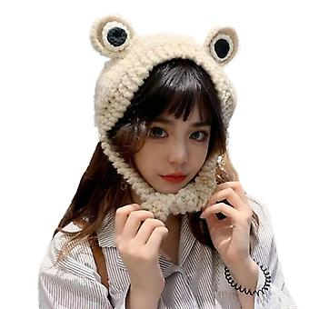 Novelty Cute Big-eyed Frog Ears Knitted Cap Soft Warm Comfortable Winter
