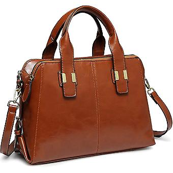 Handbags for Ladies, VASCHY PU Patent Leather Top Handle Bag