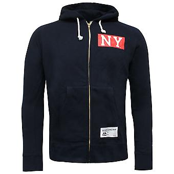 Majestic New York Yankees Full Zip Hoodie Branded Sweatshirt Navy A3NGI5215