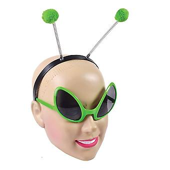 Bristol novelty ds160 alien set glasses and headband, unisex-adult, one size