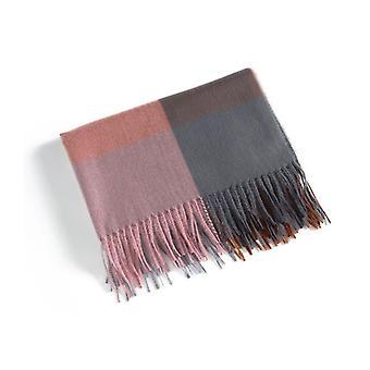Huivi 180x70 cm Vaaleanpunainen/Harmaa tamme