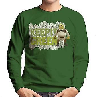 Shrek Keep It Green Men's Sweatshirt
