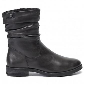 DA Stiefel Anthracite Flat Boots Flat