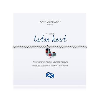 Joma Jewellery A Wee Tartan Heart Bracelet Scottish 1815