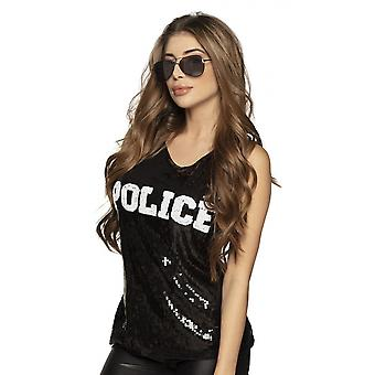 Police Top Women's Polyester Black One-Size