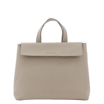 Orciani B02095softconchiglia Women's Beige Leather Handbag