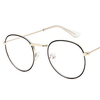 Naiset Luxury Pyöreä Silmälasit Kehykset Vintage Brand Designer Silmälasit