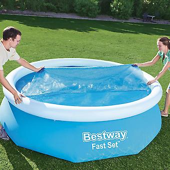 Bestway Flowclear Above Ground Fast Set 10ft Solar Swimming Pool Cover