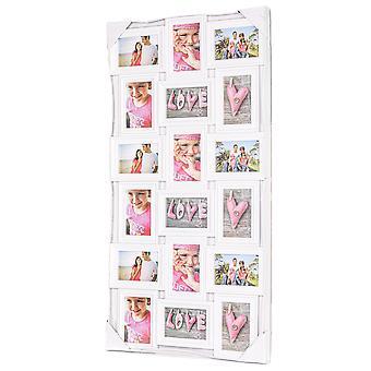 Xl fotolijst collage voor 18 foto's van (10x15 & 15x10 cm)