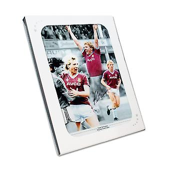 Frank McAvennie Signed West Ham Photo. Gift Box