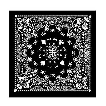 Hip Hop Skull Black Paisley Bandana čelenka, čelenka / vlasy Band, Šátek Krk,