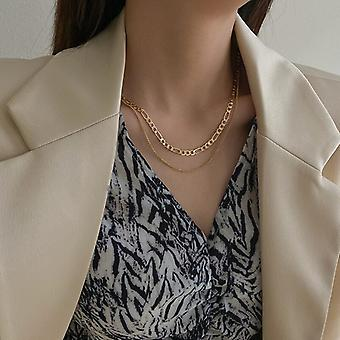Dual Layer Punk Chain Necklace