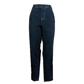 Belle by Kim Gravel Women's Pants Plus Belted Jegging Blue A38346