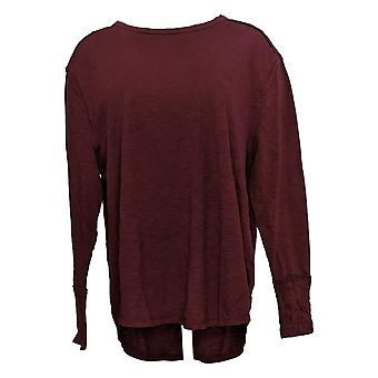 All Worthy Hunter McGrady Women's Top Long-Sleeve Relaxed Red A384588