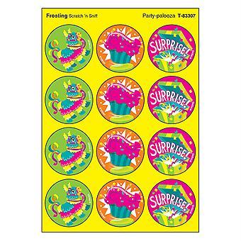 Party-Palooza/Frosting Stinky Stickers, 48 Count