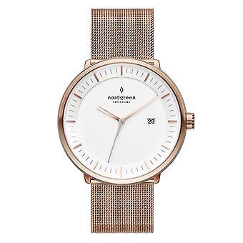 Nordgreen Unisex Philosopher Mesh Rose Gold 40mm Watch PH40RGMEROXX