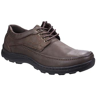 Fleet & Foster Luxor Mens Leather Casual Shoes Brown UK Size