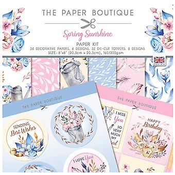 The Paper Boutique - Spring Sunshine Collection - Paper Kit