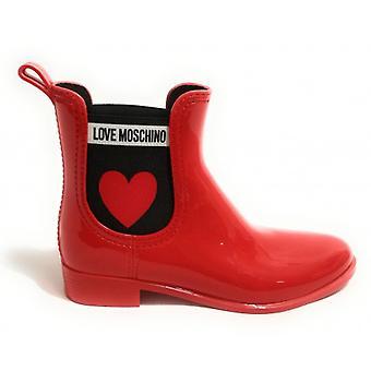 Zapatos de mujer Moschino Rainboot Rainboot Pvc Rojo D19mo10