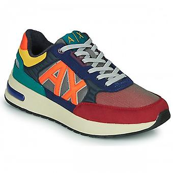 Men's Armani Exchange Ecosuede/ Multicolor Fabric U21ax05 Sneaker