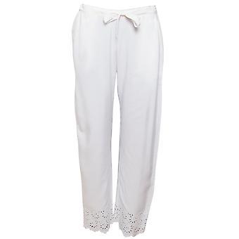 Cyberjammies Leah 4836 Pantalon pyjama brodé blanc Femme's
