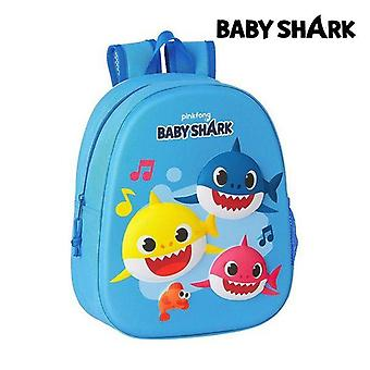 3D child bag baby shark light blue