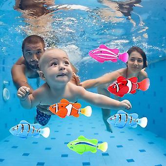 4kpl robotti elektroninen kala uida robotti lemmikki kylpy