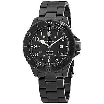 Glycine Combat Automatic Black Dial Black PVD Men's Watch GL0256