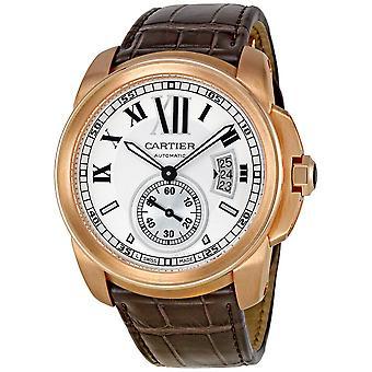Cartier Calibre De Cartier 18kt Rosa Guld Silver Urtavla Mekanisk Herrklocka W7100009